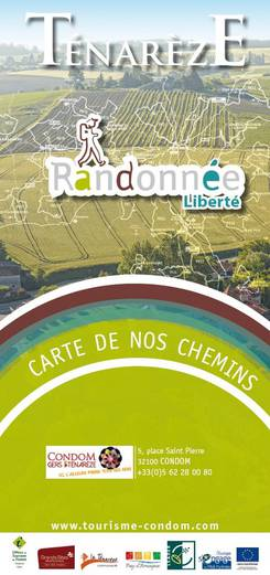 carte des chemins des randonnées - Condom/Gers