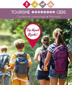 Carte des chemins de Randonnées Condom - Gers - Ténarèze