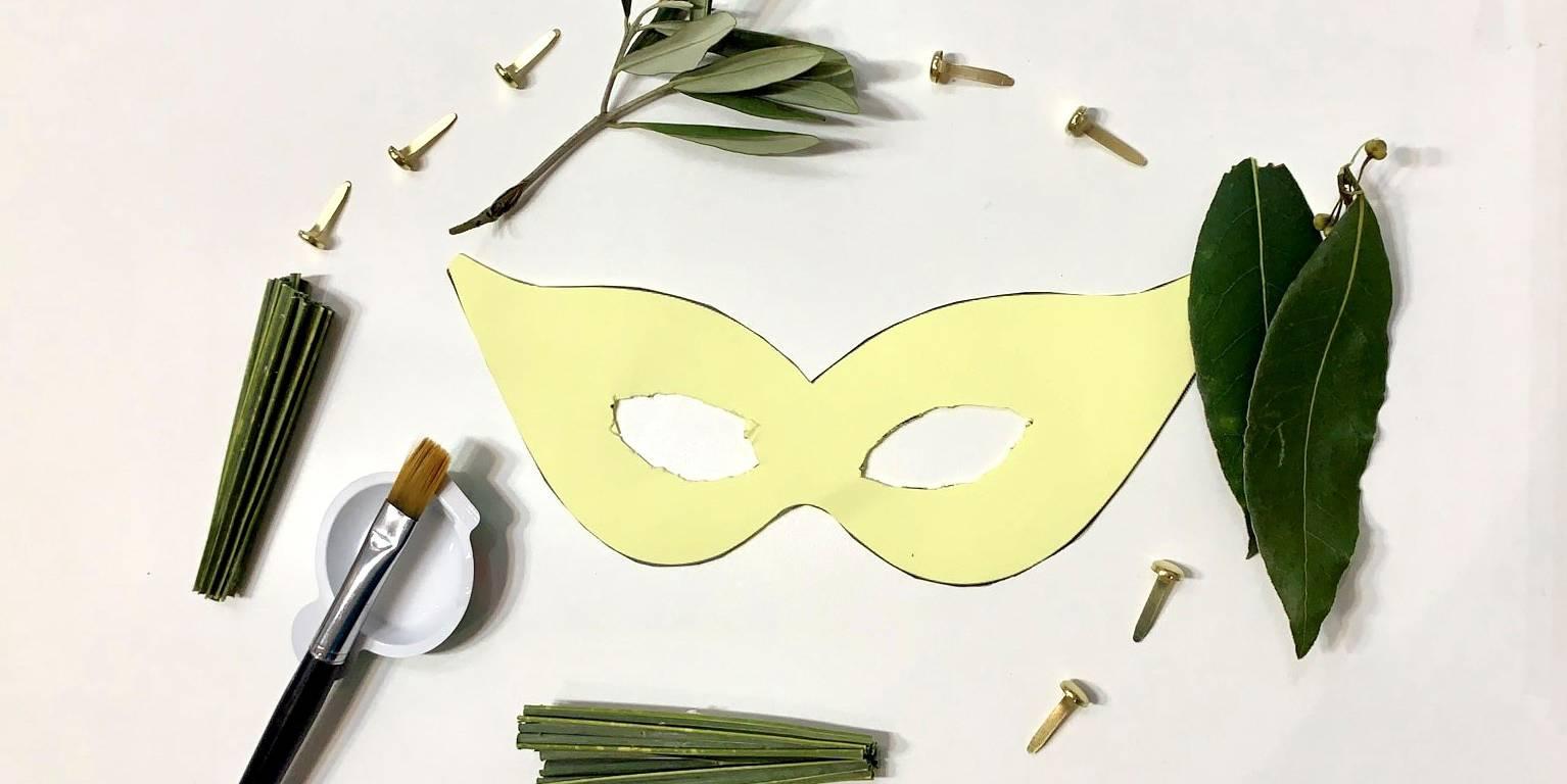 Créez votre masque avec des matières végétales