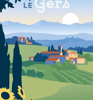 L'affiche du Gers illustré
