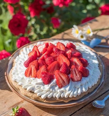 Recette tarte aux fraises - Fête des Mères
