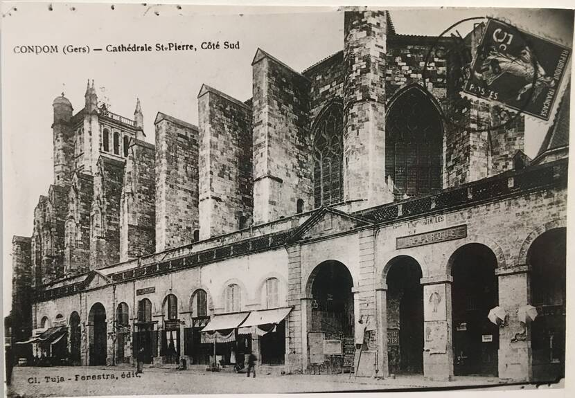 Péristyle de la cathédrale de Condom - photo ancienne Fenestra