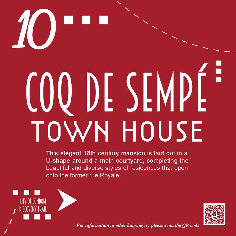 Hôtel particulier Coq de Sempé - Gers