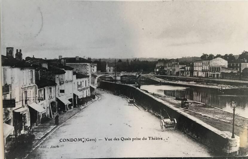 vue sur les quais - Photo ancienne Fenestra