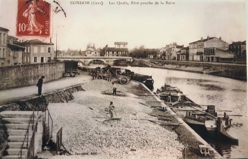Le port de Condom - Photo ancienne Fenestra