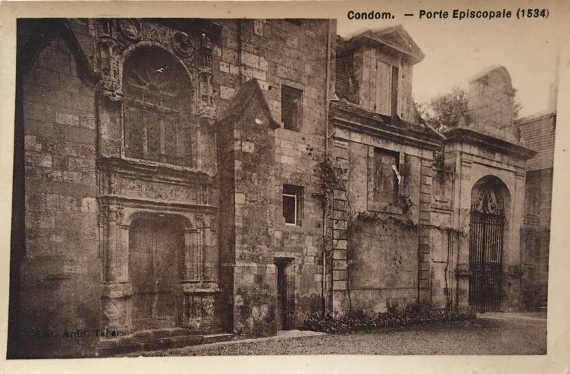 Porte épiscopale - Photo ancienne Fenestra