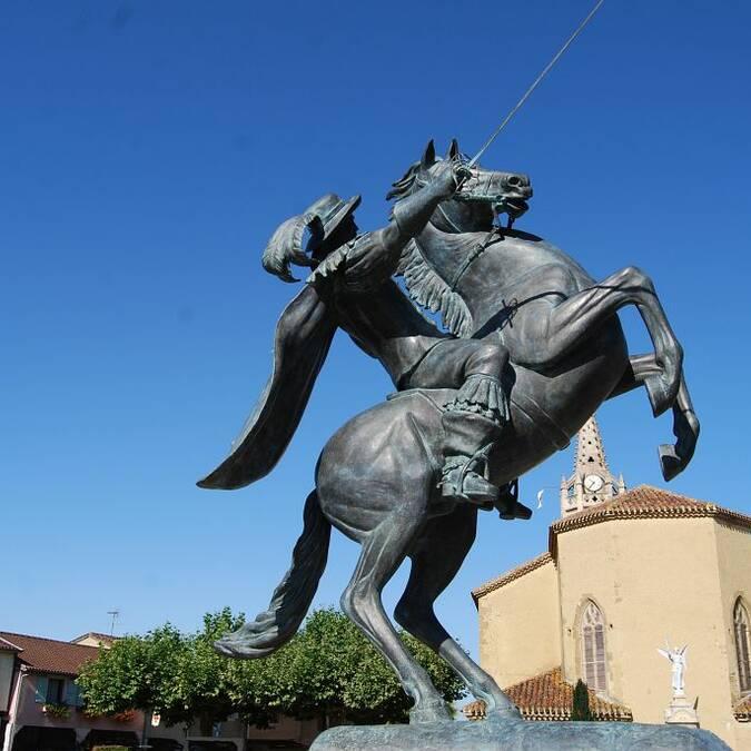 D'Artagnan sur son cheval à Lupiac