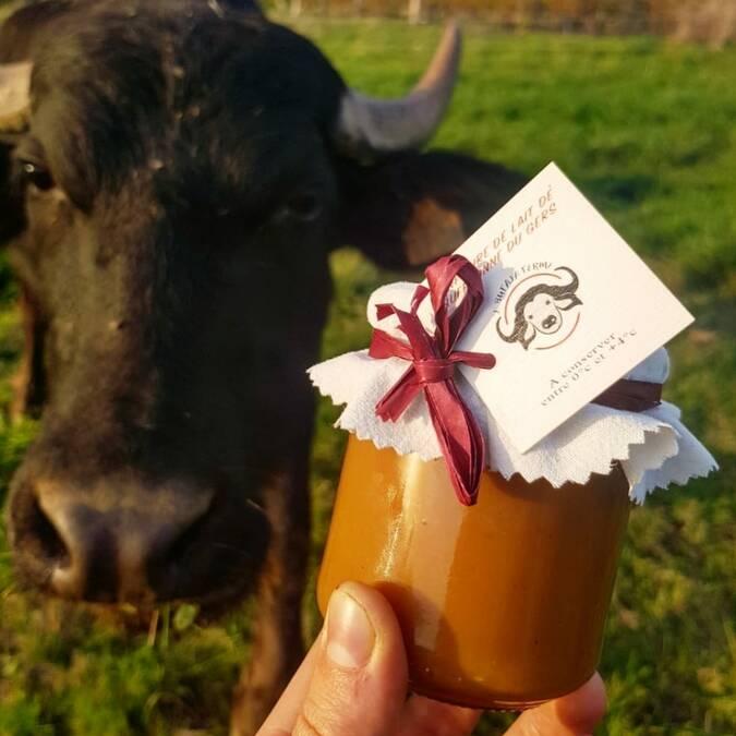 Confiture de lait de bufflonne L'Bufala à Caussens