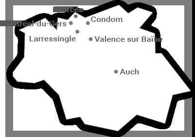 Carte Tourisme-condom depuis Gers