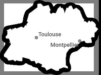 Carte Tourisme-condom depuis Languedoc-Roussillon</br>Midi-Pyrénées